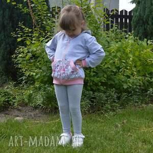 różowe bluza dresowa safari z kapturem