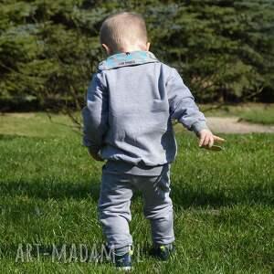 dla chłopca niebieskie samoloty spodnie dla