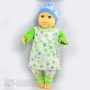 bluzka w-sowy zielone sowy dla dziewczynki