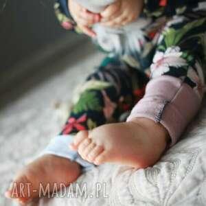 modne spodnie bawełniane spodenki dla dziewczynki kwiaty
