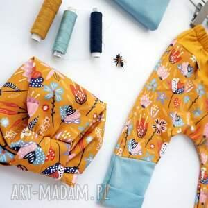 spodnie do szkoły pomarańczowe spodenki dla dziewczynki lato 104