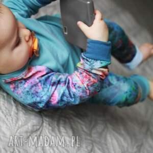 ubranka spodnie-z-bawełny spodenki dla dziewczynki niebo 74