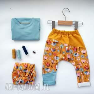 urokliwe kolorowe spodnie spodenki dla dziewczynki lato 104