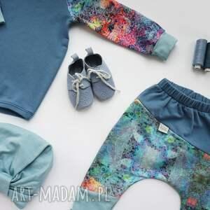 spodnie-z-bawełny ubranka spodenki dla dziewczynki niebo 74