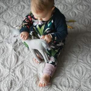 spodnie bawełniane spodenki dla dziewczynki kwiaty