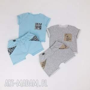 wyjątkowe ubranka spodenki i koszulka szary zestaw