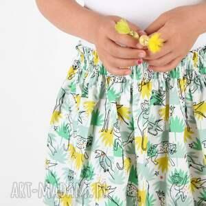 unikatowe ubranka spódnica green