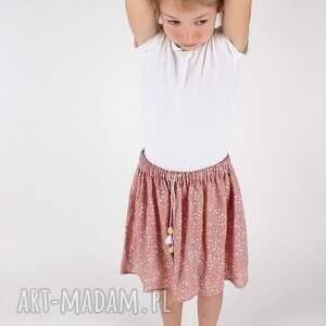 różowe ubranka spódnica w gwiazdki