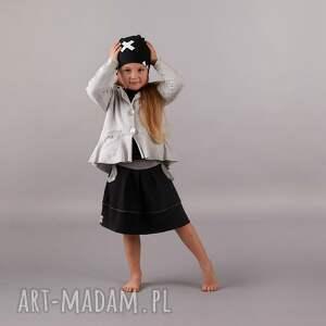 szare ubranka spódnica spódniczka black & grey
