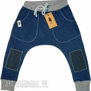hand made spodnie baggy blue