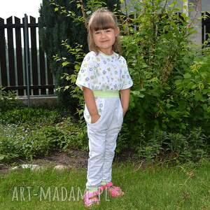 spodnie dla dziecka zielone dla dziewczynki, sowy