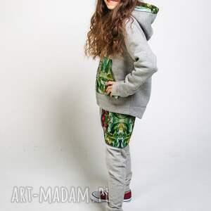 szare ubranka spodnie-baggy spodnie dresowe dziecięce jungle