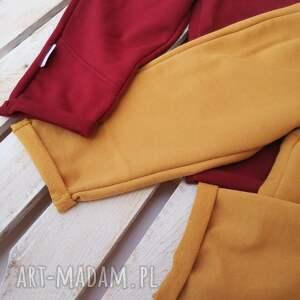 ręcznie robione bawełniane spodnie dresowe ilovemama