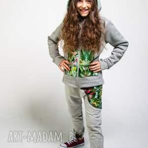 spodnie dresowe zielone dziecięce jungle