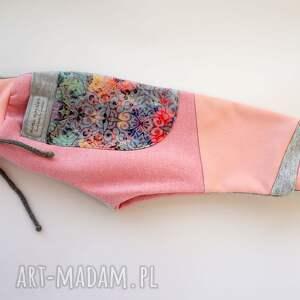 różowe dres dla dziewczynki spodnie dziecięce patch pants 110