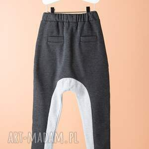 szare ubranka spodnie dsp06g