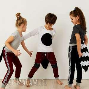joggery ubranka spodnie z lampasami black
