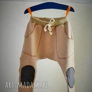 spodnie karmelowy beż baggy