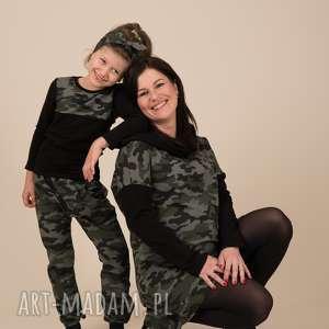 zielone baggy spodnie moro dla dziewczynki