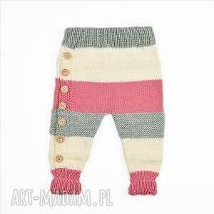 frapujące ubranka spodnie tricolor merynos dziecięcy