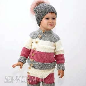 dziecko ubranka spodnie tricolor merynos dziecięcy