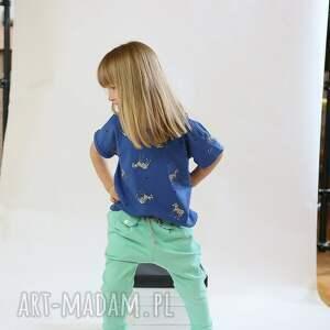 zakładki ubranka spodnie w stylu jogger szary melanż