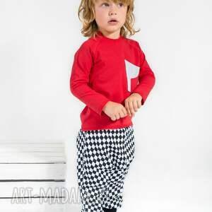 wyjątkowe ubranka moda spodnie z obniżonym krokiem romby
