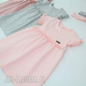 różowe ubranka falbanka sukieneczka z mini
