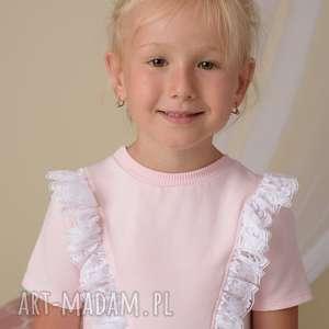 Sukienka dla dziewczynki z koroną - koronka