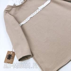 oryginalne ubranka koronka sukienka bezowa z