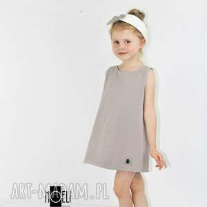 ubranka letnia sukienka cappuccino z tiulowa