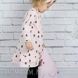 sukienka ubranka różowe dla dziewczynki krople