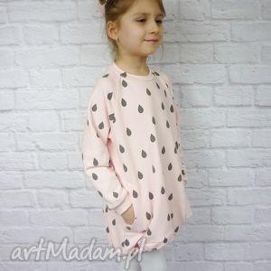 szare ubranka bawełna sukienka dla dziewczynki 122-128