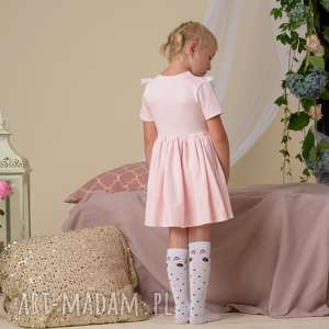 niesztampowe rozkloszowana sukienka dla dziewczynki z