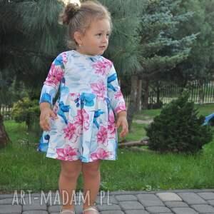 d47aa136f9 dzianina sukienka dla dziewczynki koliber