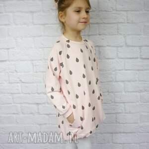 szare ubranka dziewczynka sukienka dla dziewczynki 104-116