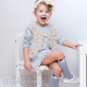 szare ubranka dziewczynka sukienka dla dziewczynki 122-128
