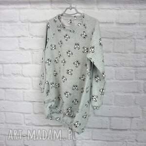 szare ubranka sukienka dla dziewczynki 122-128