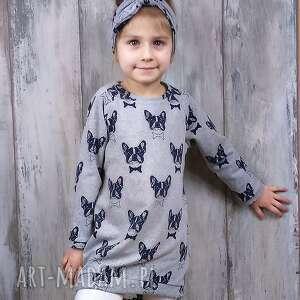 szare ubranka sukienka dla dziewczynki 104-116