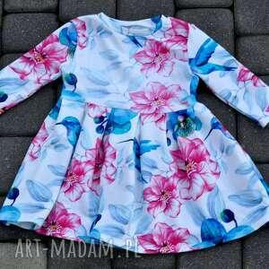 9cb6dc90ba atrakcyjne koliber sukienka dla dziewczynki. dzianina sukienka dla dziewczynki  koliber