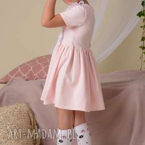 różowe ubranka sukienka dla dziewczynki z koroną