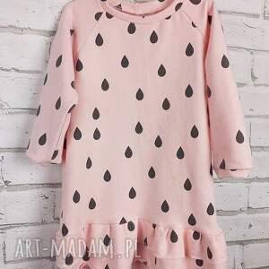 wyjątkowe ubranka bawełna sukienka dla dziewczynki krople