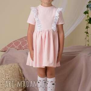 rozkloszowana ubranka sukienka dla dziewczynki z koroną