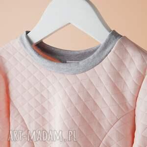 różowe ubranka pikowana sukienka dsu02r