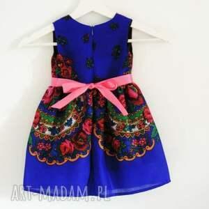 nietypowe ubranka sukienka dziecięca góralska