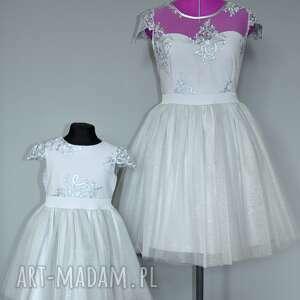 niekonwencjonalne brokat sukienka dziecięca chloe