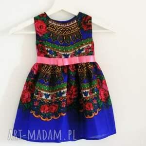 kolorowe ubranka góralska sukienka dziecięca
