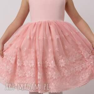 intrygujące rozkloszowana sukienka dziecięca iga