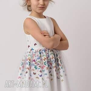 rozkloszowana ubranka różowe sukienka dziecięca mariposa
