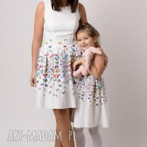 ręcznie wykonane ubranka rozkloszowana sukienka dziecięca mariposa